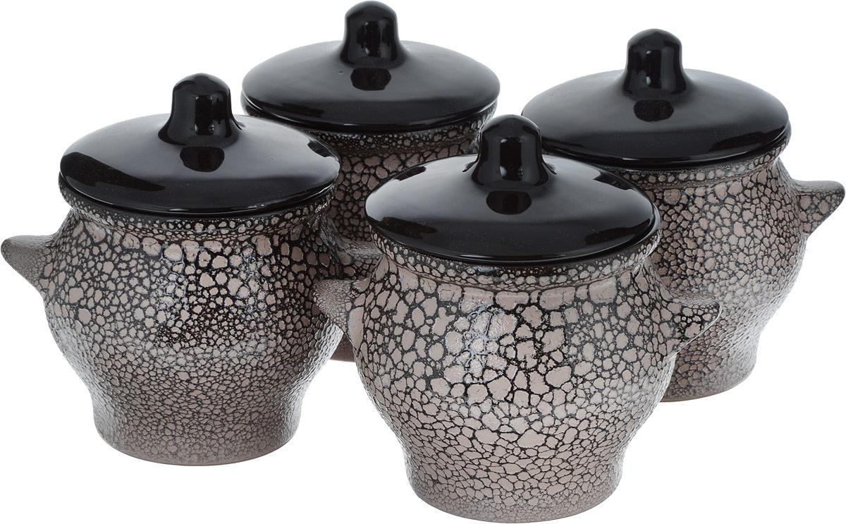 Набор горшочков для запекания Борисовская керамика Престиж, 4 шт, 700 мл. МРМ14456876 набор горшочков для запекания борисовская керамика новарусса 4 шт