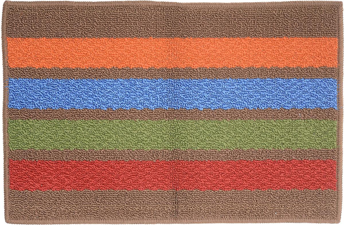 """Коврик придверный Vortex """"Barcelona"""", цвет: коричневый, мультиколор, 38 х 58 см"""