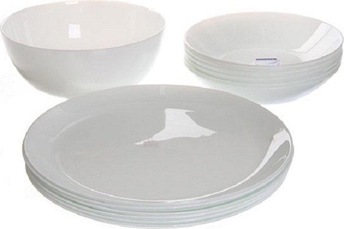 Сервиз обеденный Luminarc Diwali, цвет: белый, 19 предметов сервиз обеденный luminarc brush mania mix
