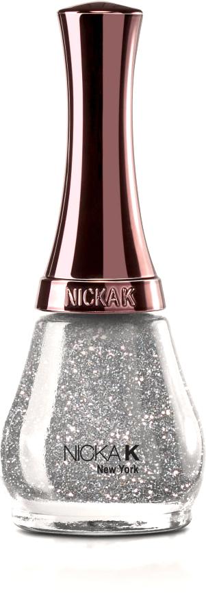 Nicka K NY NY Nail Color лак для ногтей, 15 мл, оттенок GLITTERY nicka k ny ny blush румяна 12 г оттенок nicka k ny ny blush румяна 12 г