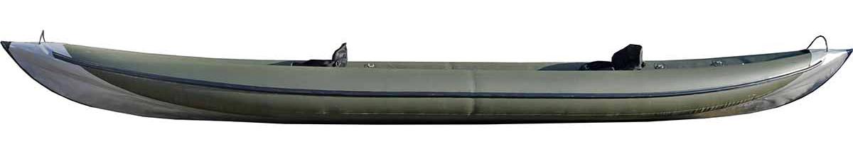 Каркасно надувная байдарка Вольный ветер Варяг 540, цвет: зеленый
