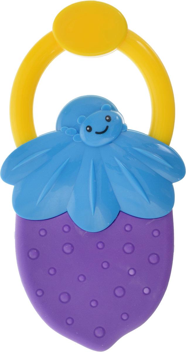 Bondibon Погремушка Ягодка цвет фиолетовый голубой bondibon мягкая игрушка погремушка кот 32 см