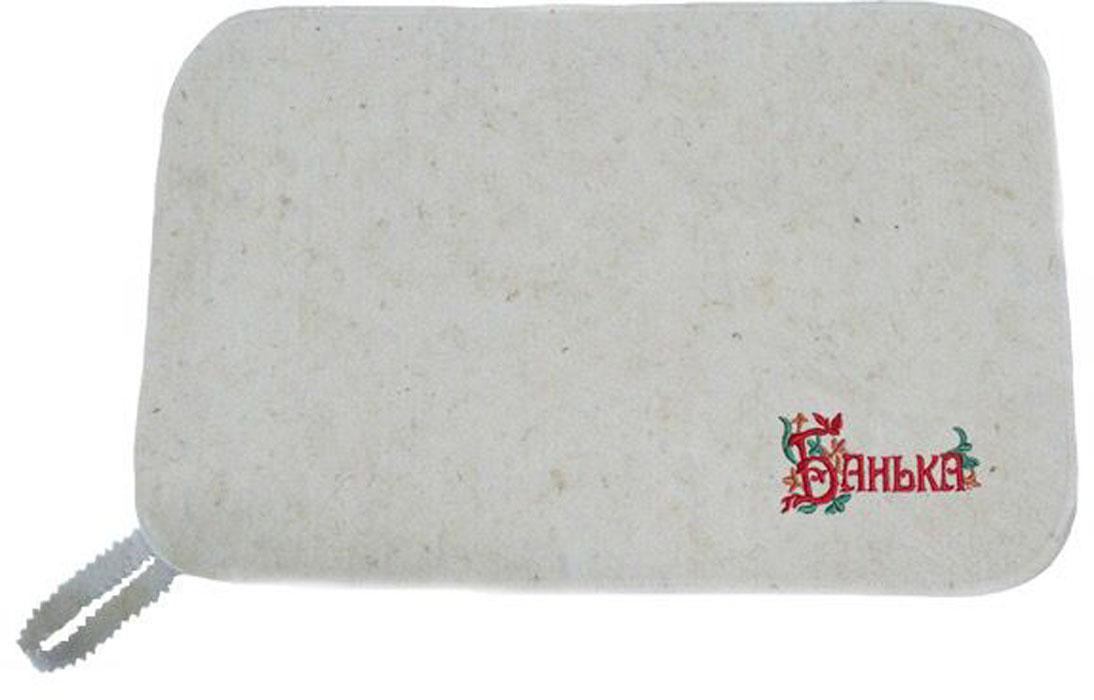 Коврик для бани и сауны Ecology Sauna Банька, цвет:серый, 50 х 33 см шапка ушанка для бани и сауны ecology sauna снегом да паром