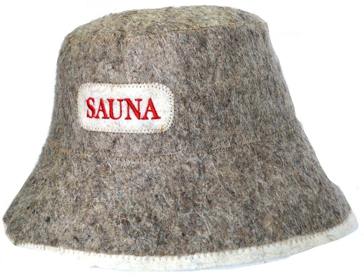 Шапка для бани и сауны Ecology Sauna Панама, цвет: серая шерсть набор для бани и сауны ecology sauna сауна цвет серая шерсть 3 предмета
