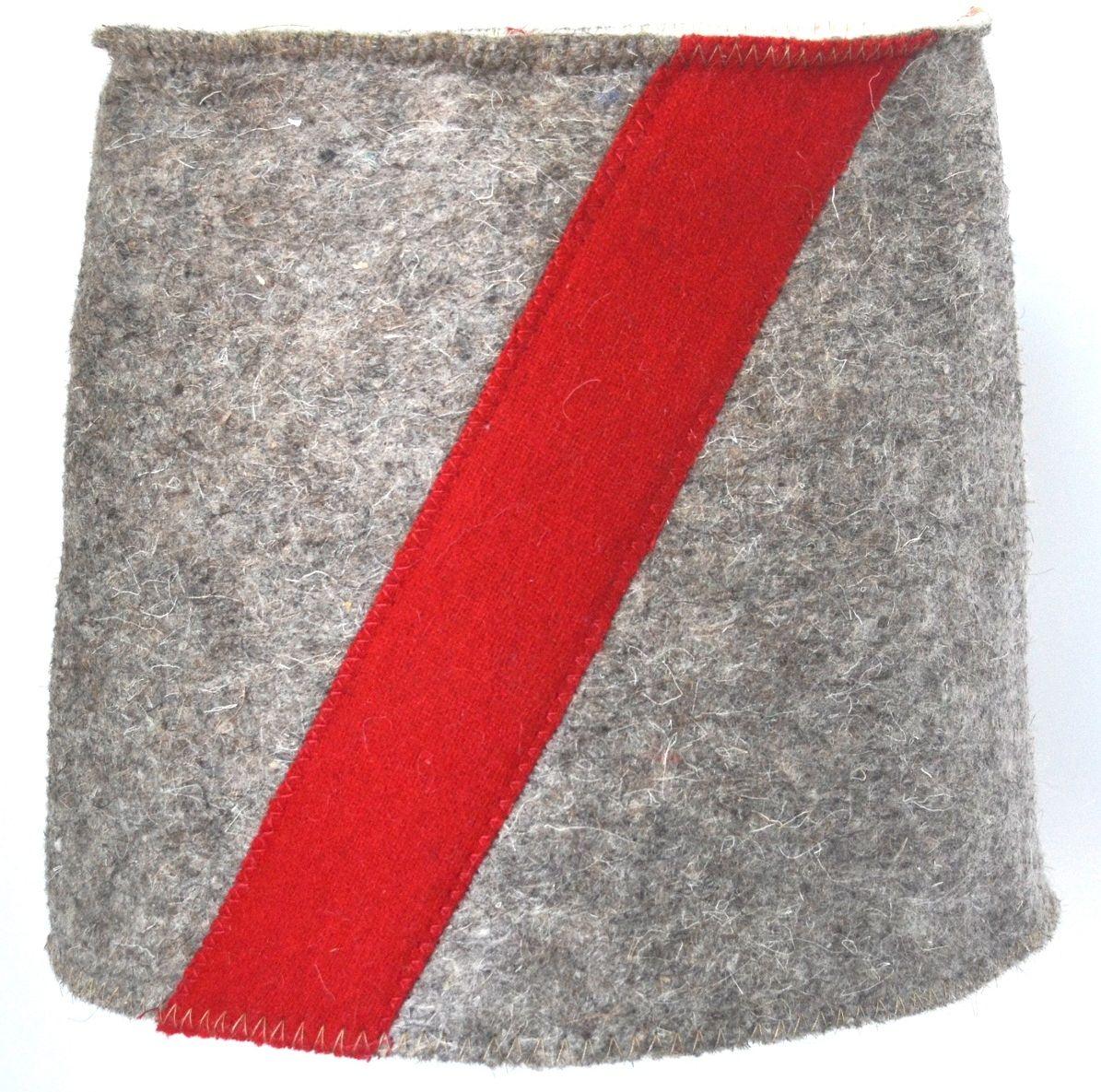 Шапка для бани и сауны Ecology Sauna Папаха, цвет: серый, красный колпак для сауны ecology sauna двухцветный цвет синий белый
