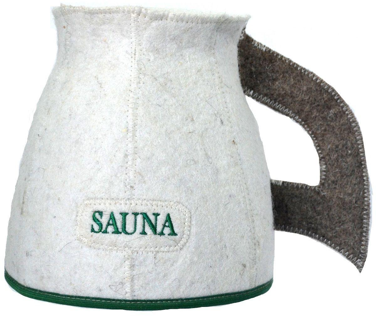 Шапка для бани и сауны Ecology Sauna Кружка, цвет: белый, серый, зеленый кронштейн nb f120 vesa 75 100 хром до 7кг накл повор сереб для телевизора