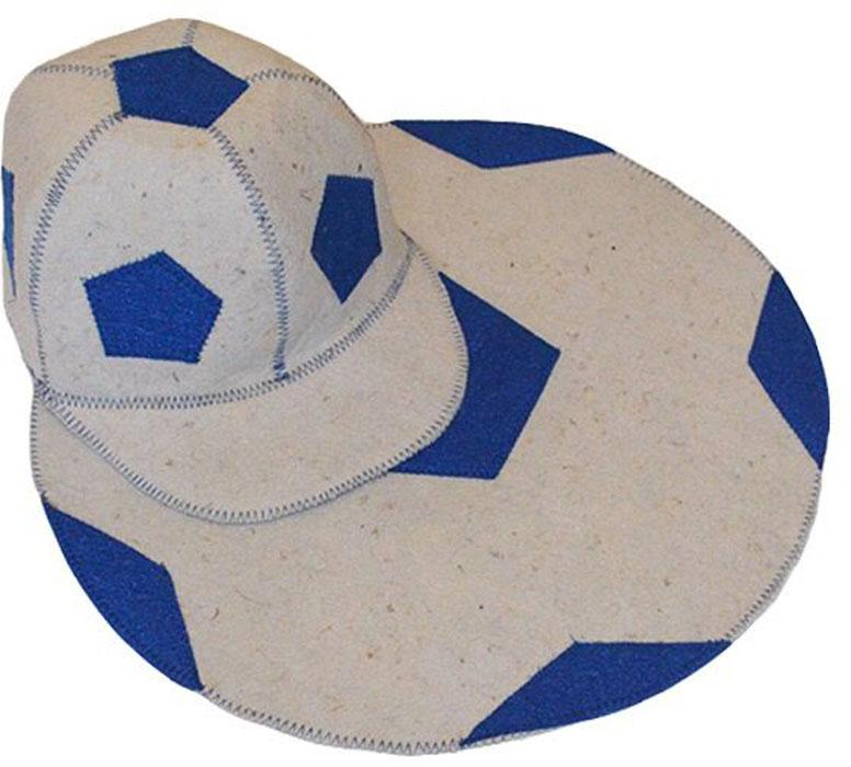 Набор для бани и сауны Ecology Sauna Футбол, цвет: белый, синий, 2 предмета для сауны набор