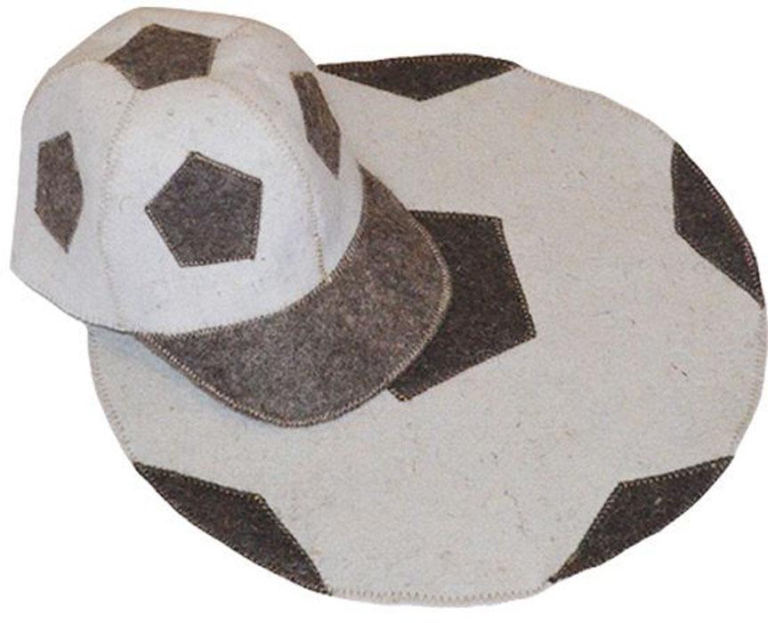 Набор для бани и сауны Ecology Sauna Футбол, цвет: белый, серый, 2 предмета для сауны набор