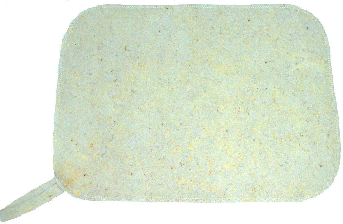 Коврик для бани и сауны Ecology Sauna Эконом, цвет: белый набор для бани и сауны ecology sauna сауна цвет серая шерсть 3 предмета