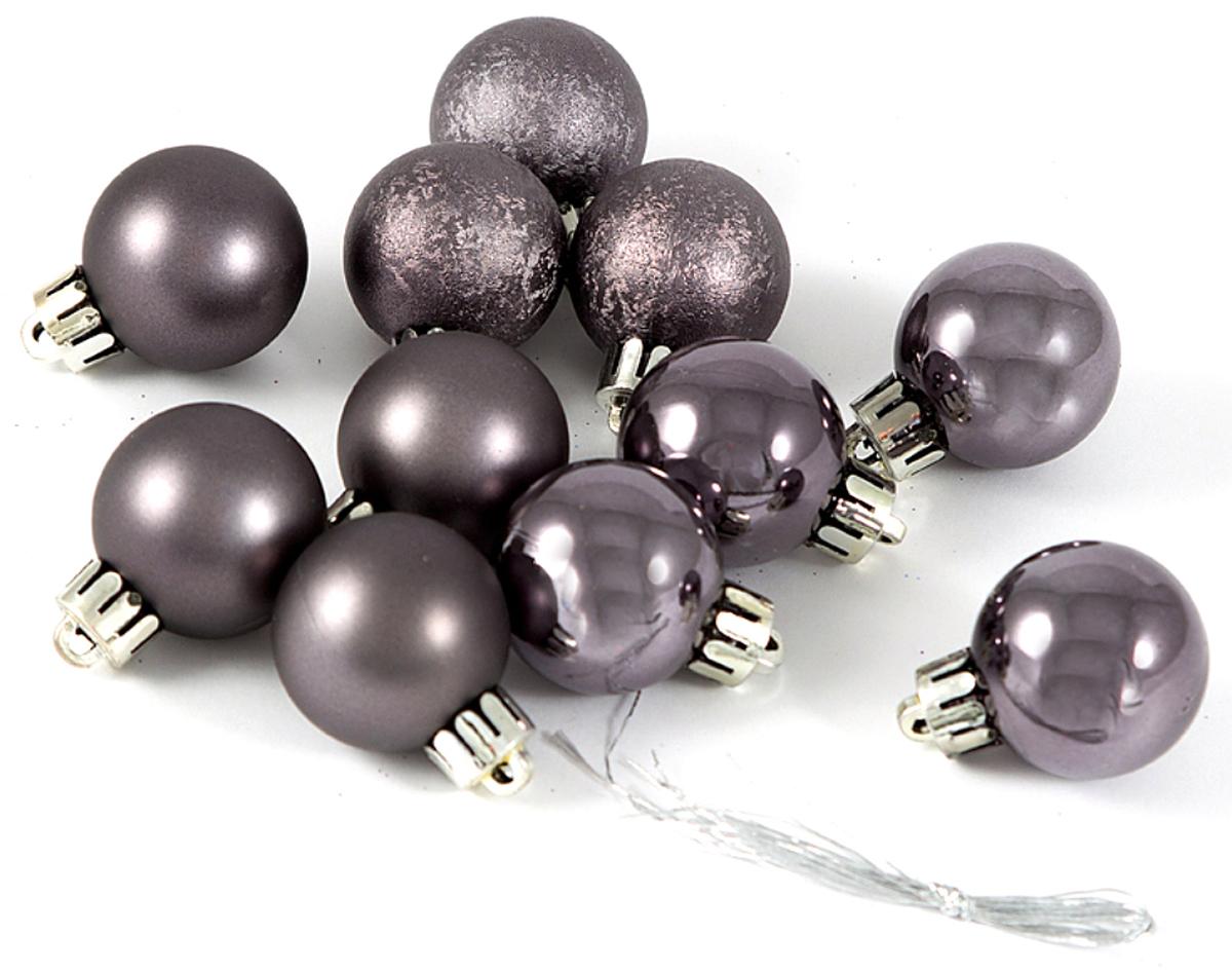 """Набор елочных игрушек """"Шары"""", цвет: темное серебро, диаметр 6 см, 6 шт. 71063"""