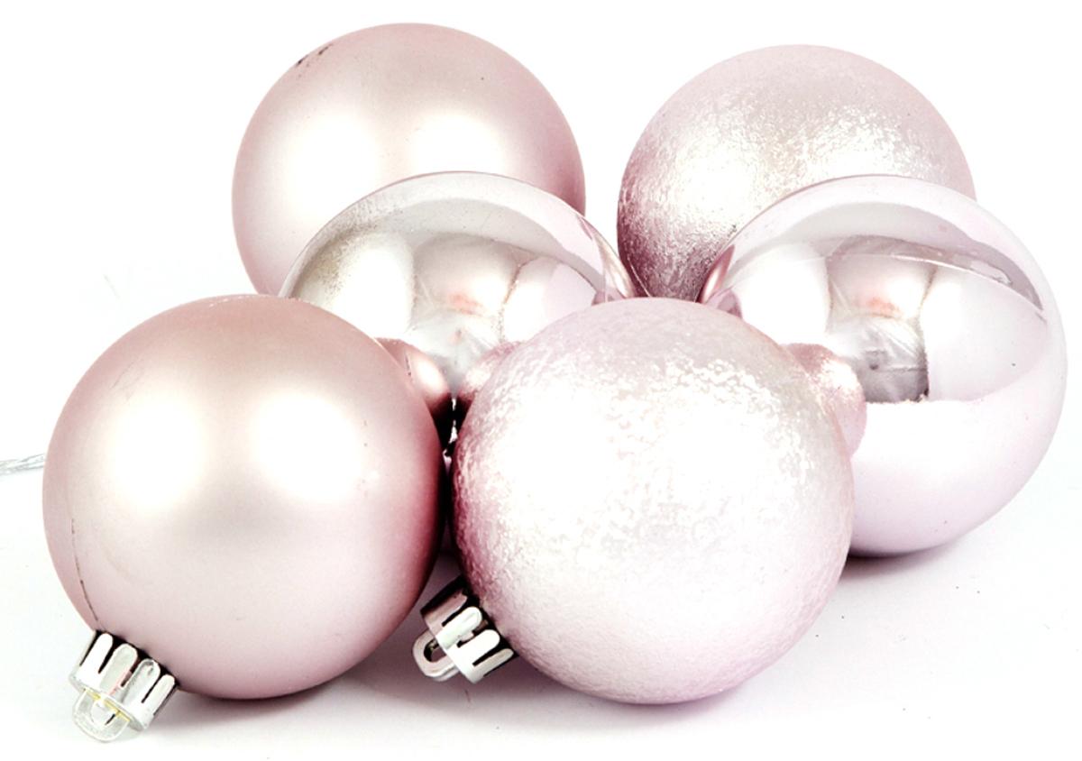 """Набор елочных игрушек """"Шары"""", цвет: серебро, диаметр 6 мм, 6 шт. 71067"""