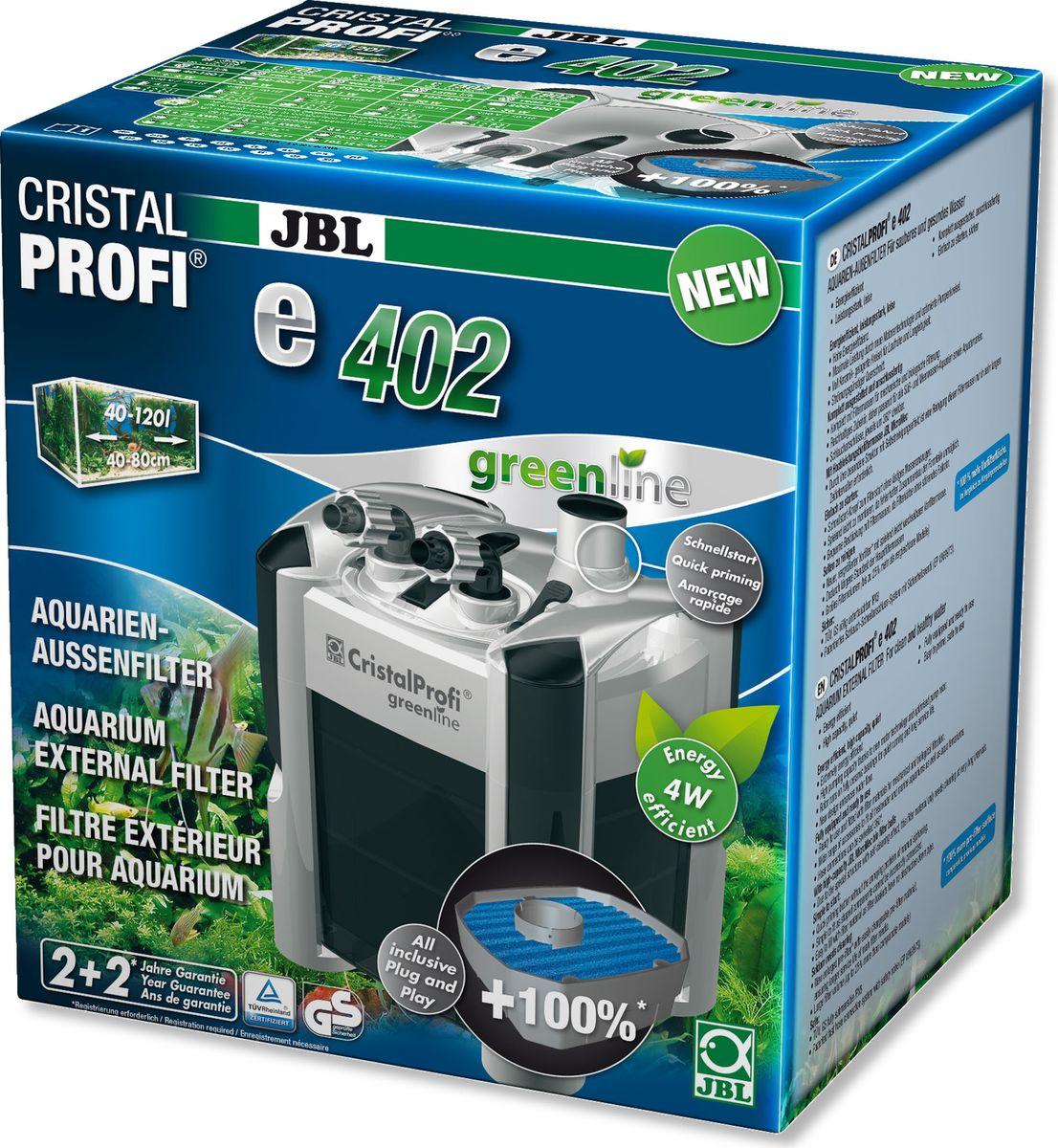 "Фильтр внешний JBL ""CristalProfi e402 greenline +"", для аквариумов объемом 40-120 л"