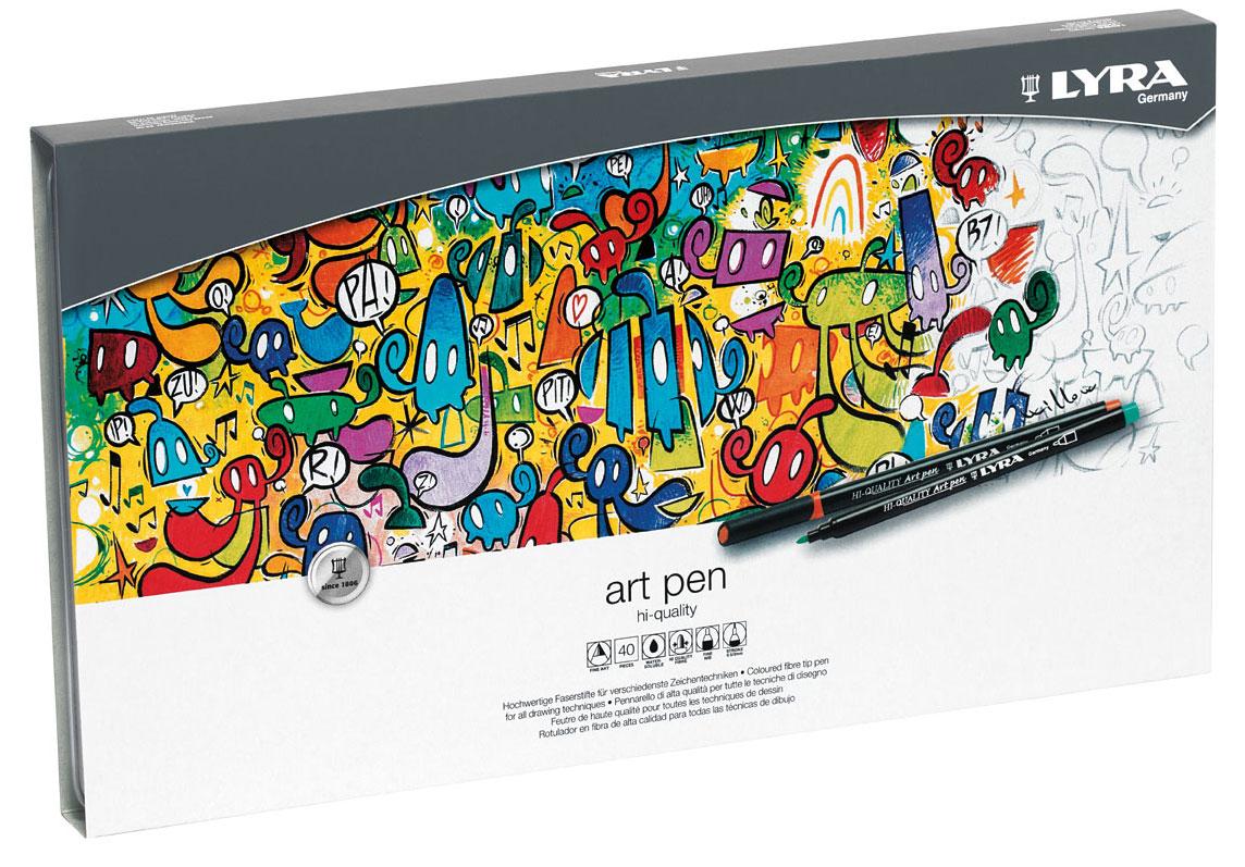 """Набор фломастеров Lyra """"Hi-Quality Art Pen"""", 40 шт, вид 2"""