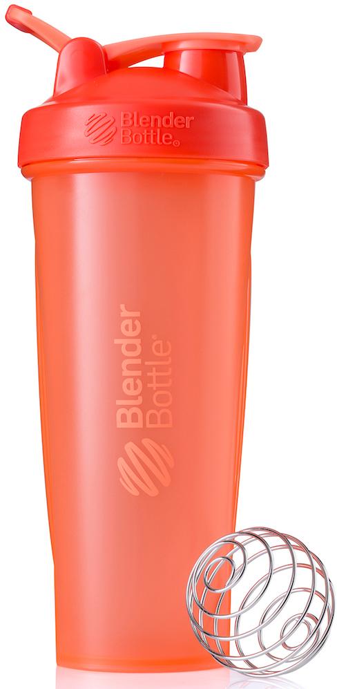 "Шейкер спортивный BlenderBottle ""Classic Full Color"", цвет: коралловый, 946 мл"