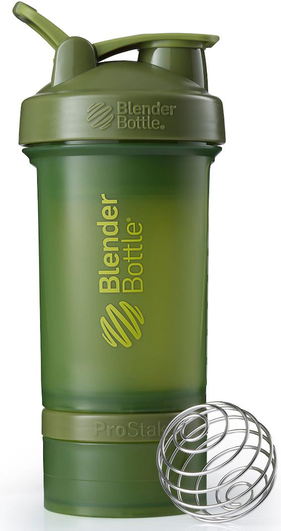 Шейкер спортивный BlenderBottle ProStak Full Color, с контейнером, цвет: оливковый, 650 млBB-PRSK-FMGRBlenderBottle ProStak - это шейкер с уникальной на сегодняшний день системой хранения, адаптируемой к любимым вашим потребностям. - шейкер + гибкая система контейнеров Twist'nLock (100 мл, 150 мл, 250 мл*, контейнер для таблеток - в любых количествах и комбинациях**) - независимая система контейнеров - запатентованная петля для удобства транспортировки - лучшая технология смешивания благодаря шарику-венчику BlenderBall - 10 стильных расцветок. Качественные материалы не содержат бисфенол (BPA) и фталаты, благодаря чему шейкер абсолютно безопасен для здоровья. Шейкер герметично закрывается и не допускает протекания при переноске в сумке. Шарик-венчик BlenderBall с легкостью смешивает даже самые плотные ингредиенты, а широкое горлышко делает питье комфортным. Гибкая система контейнеров позволяет использовать любые комбинации для получения необходимого объема, а возможность использовать контейнеры Expansion Pak как вместе, так и отдельно от шейкера позволит взять с собой все, что нужно даже при ограниченном объеме вашей сумки. Уникальная система Все-в-Одном! * Экстра-большой контейнер 250 мл докупается отдельно в составе набора контейнеров ProStak Expansion Pak ** Благодаря системе Twist'n Lock вы можете собрать нужную вам комбинацию контейнеров. Любые размеры и любое количество контейнеров. Соберите свой уникальный шейкер!
