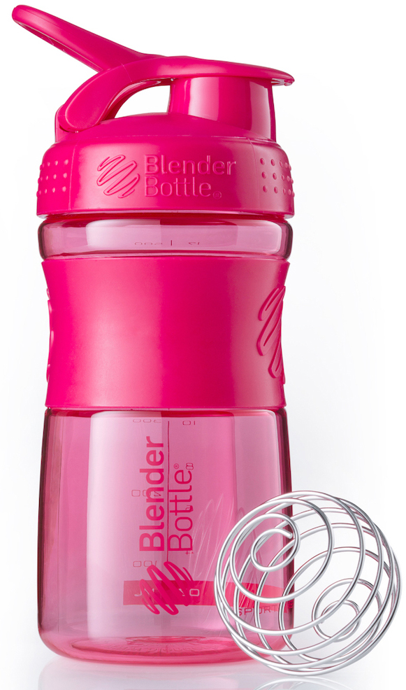 "Шейкер спортивный BlenderBottle ""SportMixer"", цвет: розовый, фуксия, 591 мл"