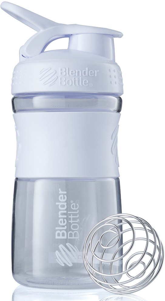 """Шейкер спортивный BlenderBottle """"SportMixer"""", цвет: белый, прозрачный, 591 мл"""