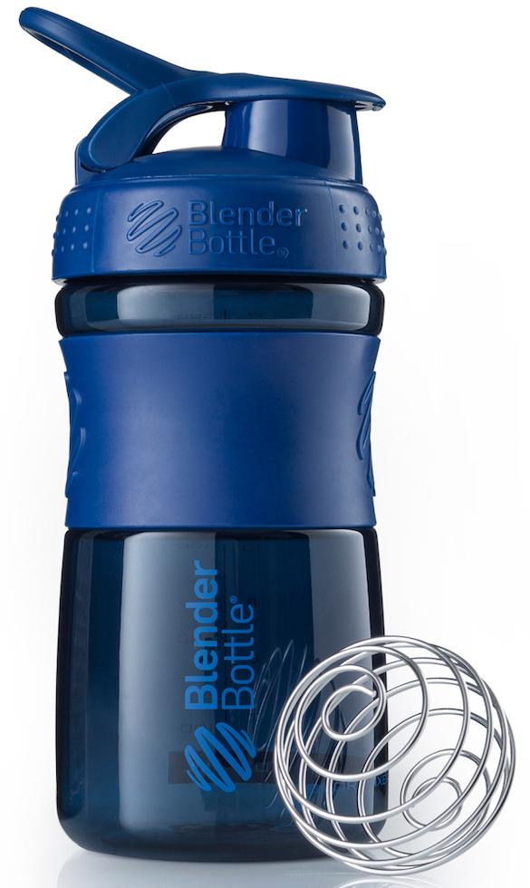 """Шейкер спортивный BlenderBottle """"SportMixer"""", цвет: темно-синий, 591 мл"""