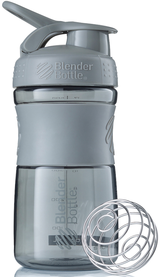 "Шейкер спортивный BlenderBottle ""SportMixer"", цвет: серый, 591 мл"