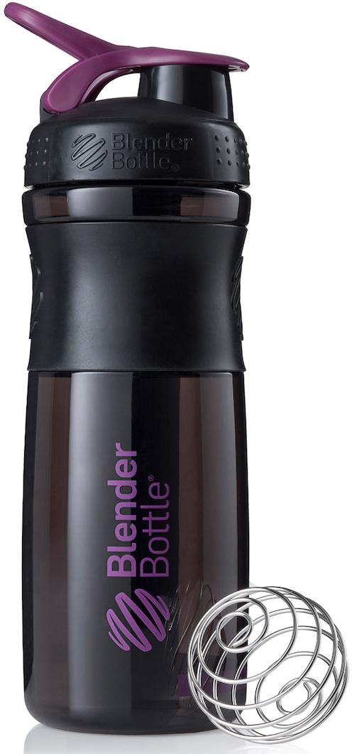 """Шейкер спортивный BlenderBottle """"SportMixer"""", цвет: черный, фиолетовый, 828 мл"""