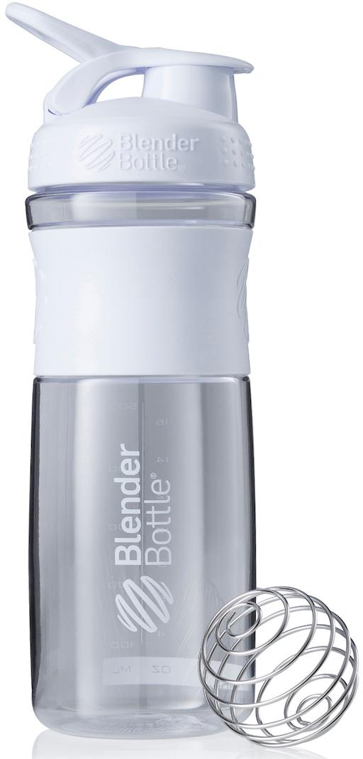 """Шейкер спортивный BlenderBottle """"SportMixer"""", цвет: белый, прозрачный, 828 мл"""