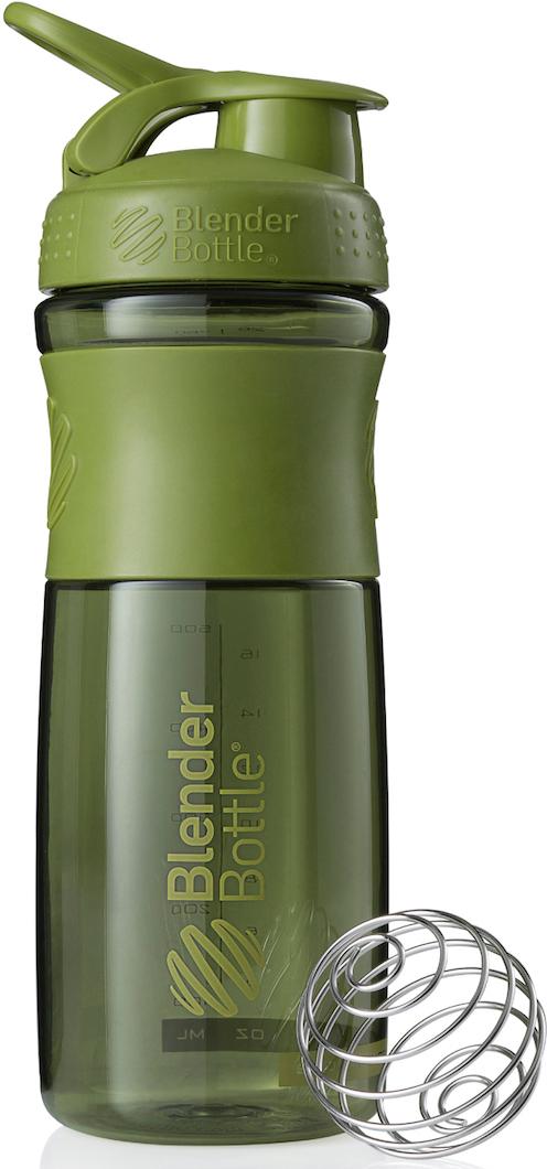 """Шейкер спортивный BlenderBottle """"SportMixer"""", цвет: оливковый, 828 мл"""