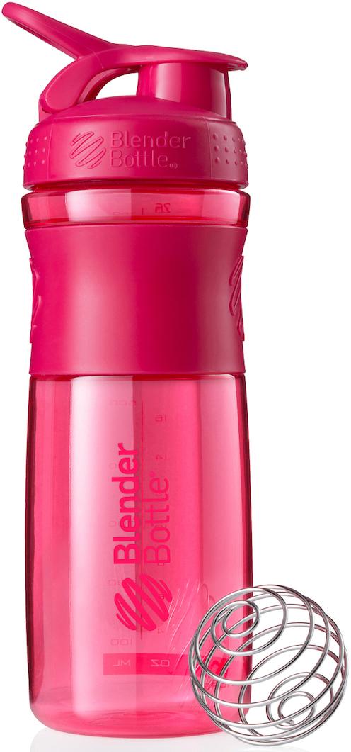 "Шейкер спортивный BlenderBottle ""SportMixer"", цвет: розовый, фуксия, 828 мл"