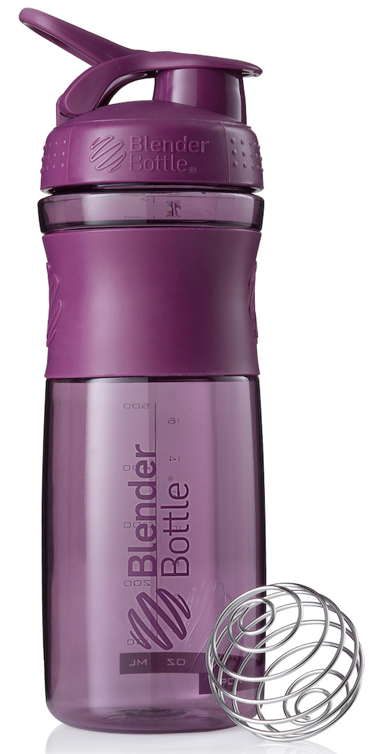"""Шейкер спортивный BlenderBottle """"SportMixer"""", цвет: фиолетовый, 828 мл"""