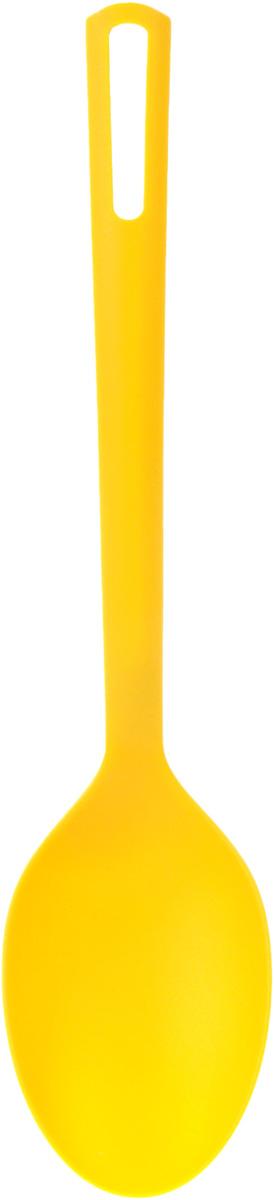 Ложка кухонная Attribute Gadget ABC, цвет: желтый половник attribute gadget abc цвет красный