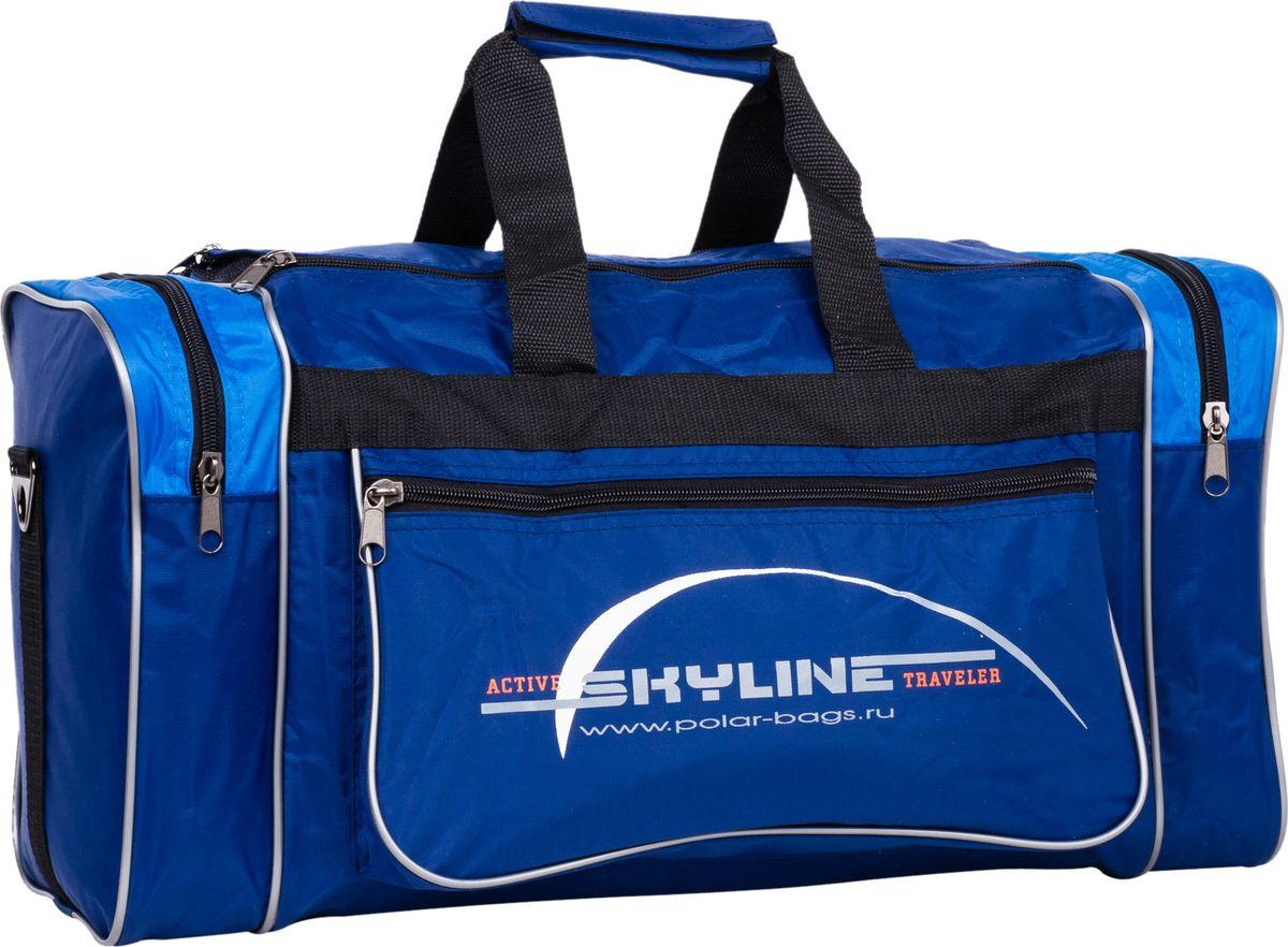 Сумка спортивная Polar, цвет: синий, голубой, 30,5 л. 6007/6 сумка спортивная polar цвет синий оранжевый 30 5 л 6007
