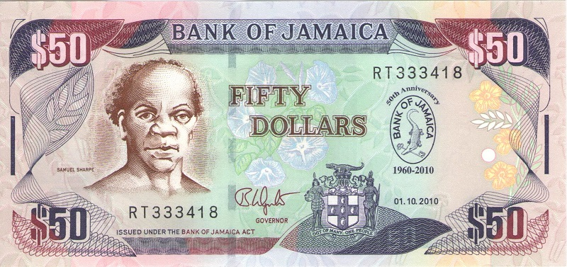 Банкнота номиналом 50 долларов. Ямайка, 2010 год ямайка авиабилеты