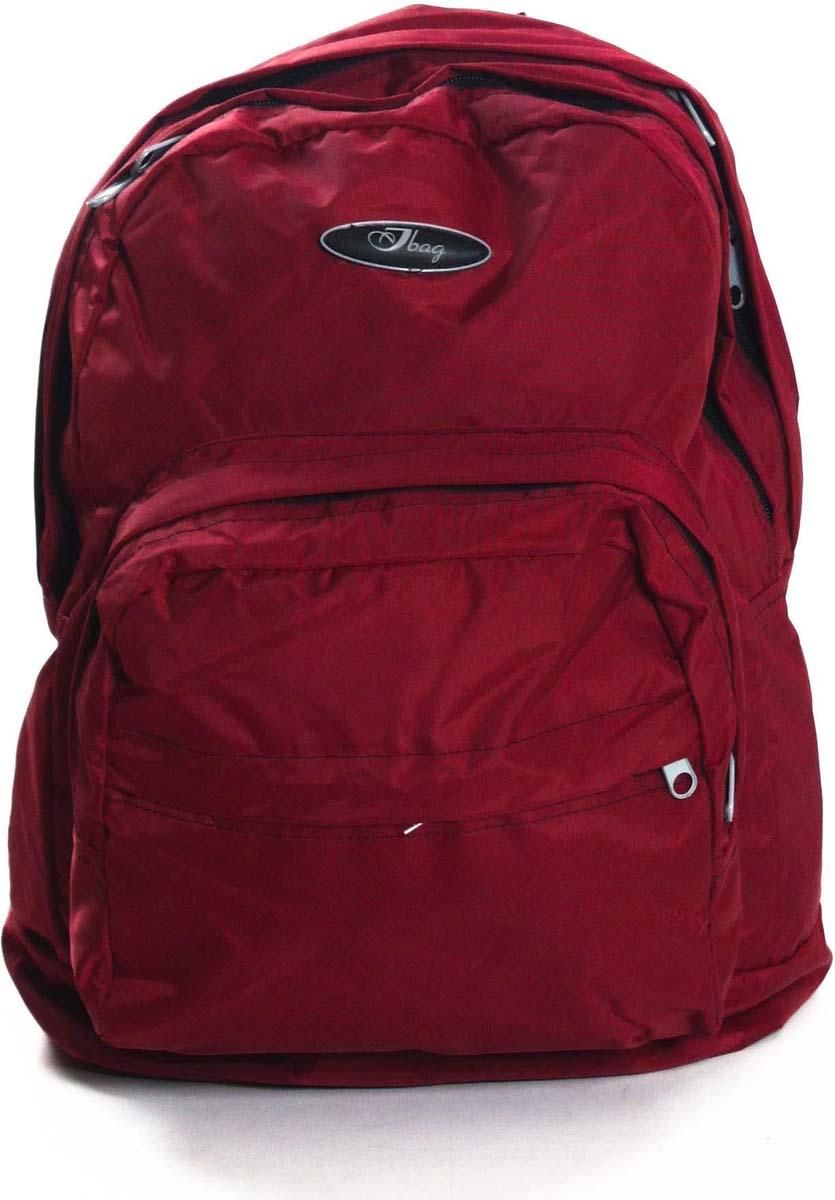 Рюкзак городской Ibag Бордо, цвет: бордовый, 18 л