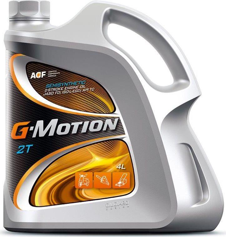 цена на Масло моторное G-Motion 2T, JASO FD, ISO-L-EGD, API TC, полусинтетическое, для двухтактных двигателей, 4 л