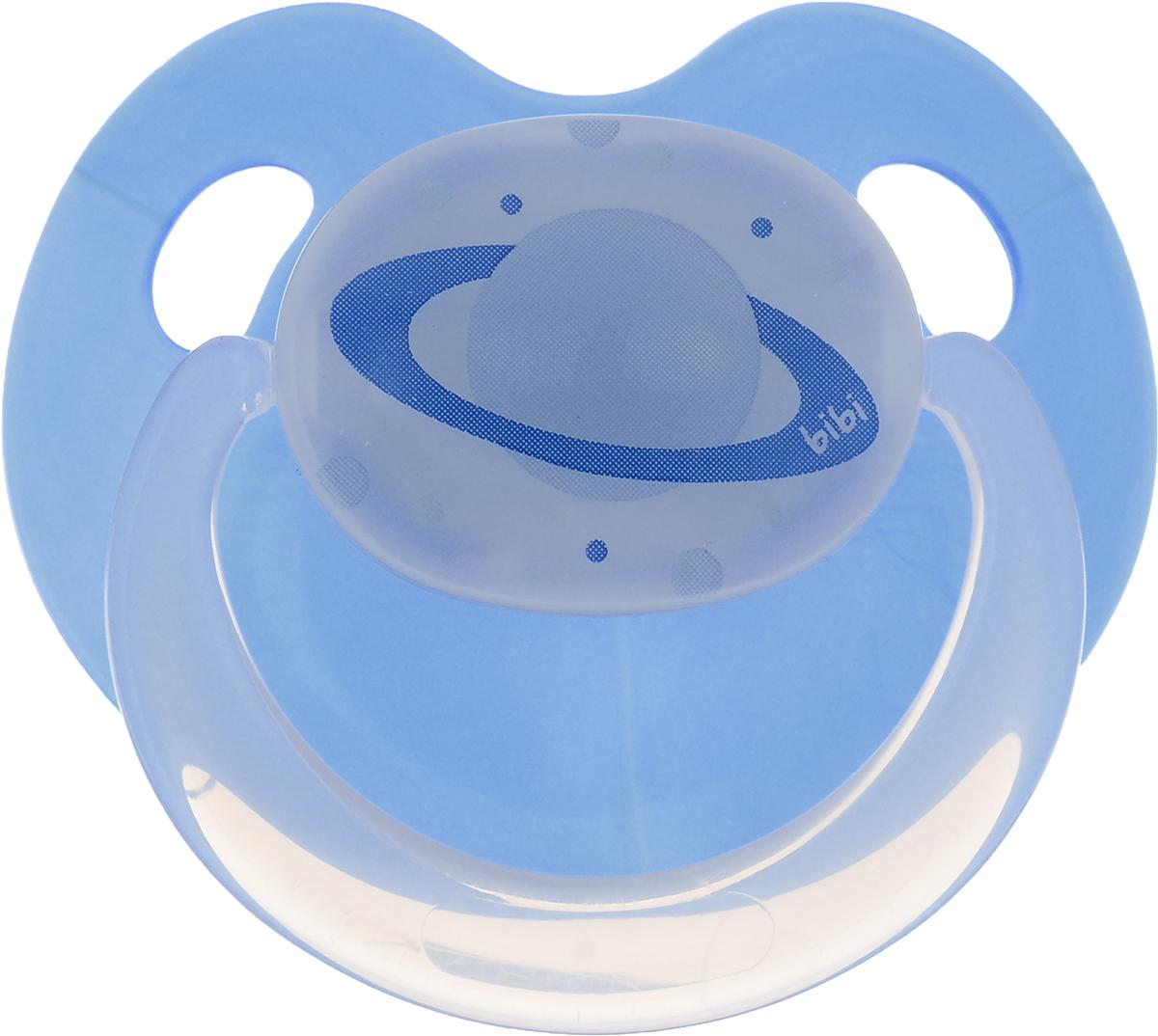 Bibi Пустышка силиконовая Dental Glow in the Dark от 0 до 6 месяцев цвет темно-синий