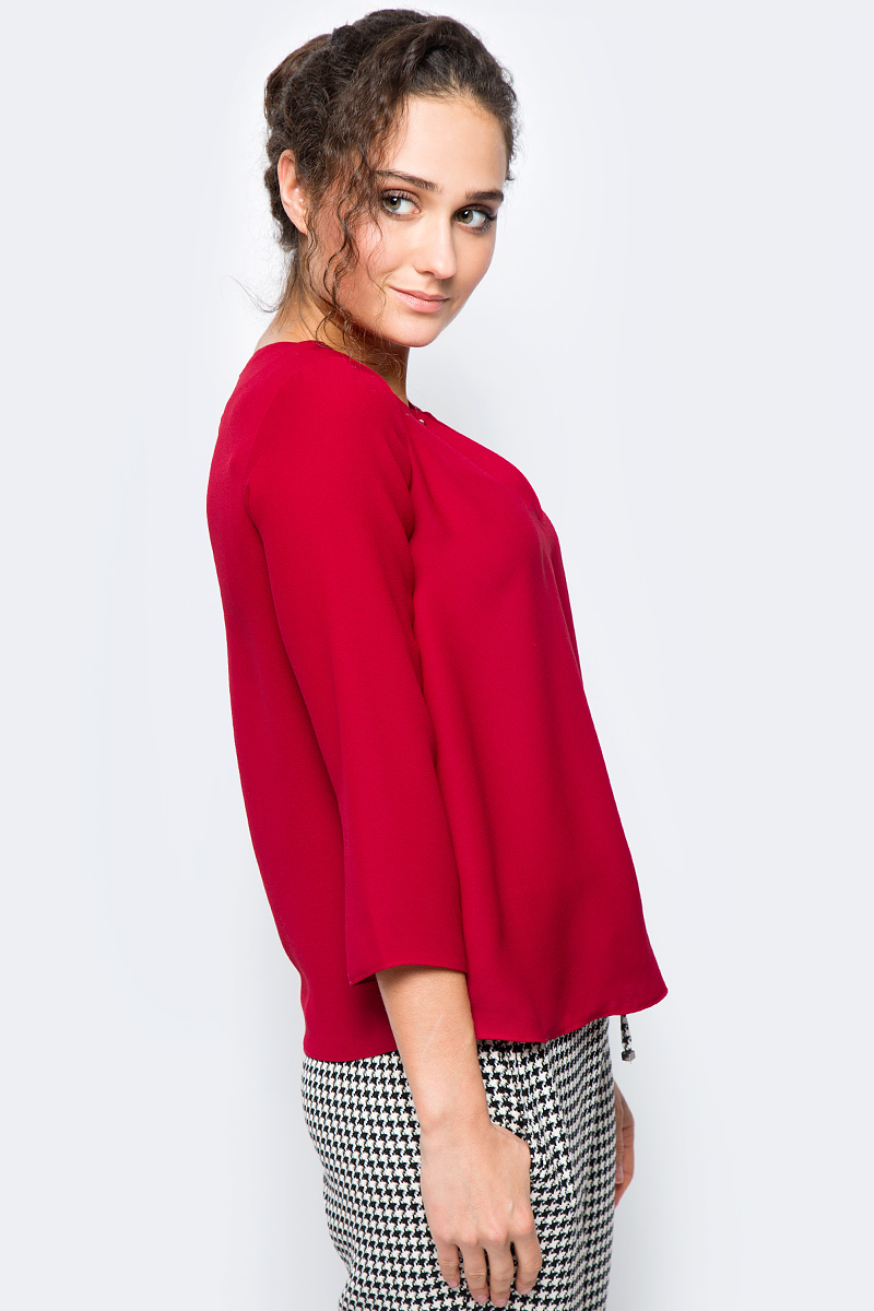 Блузка adL блузка свободного покроя бойфренд с v образный вырезом рисунком и рукавами 3 4