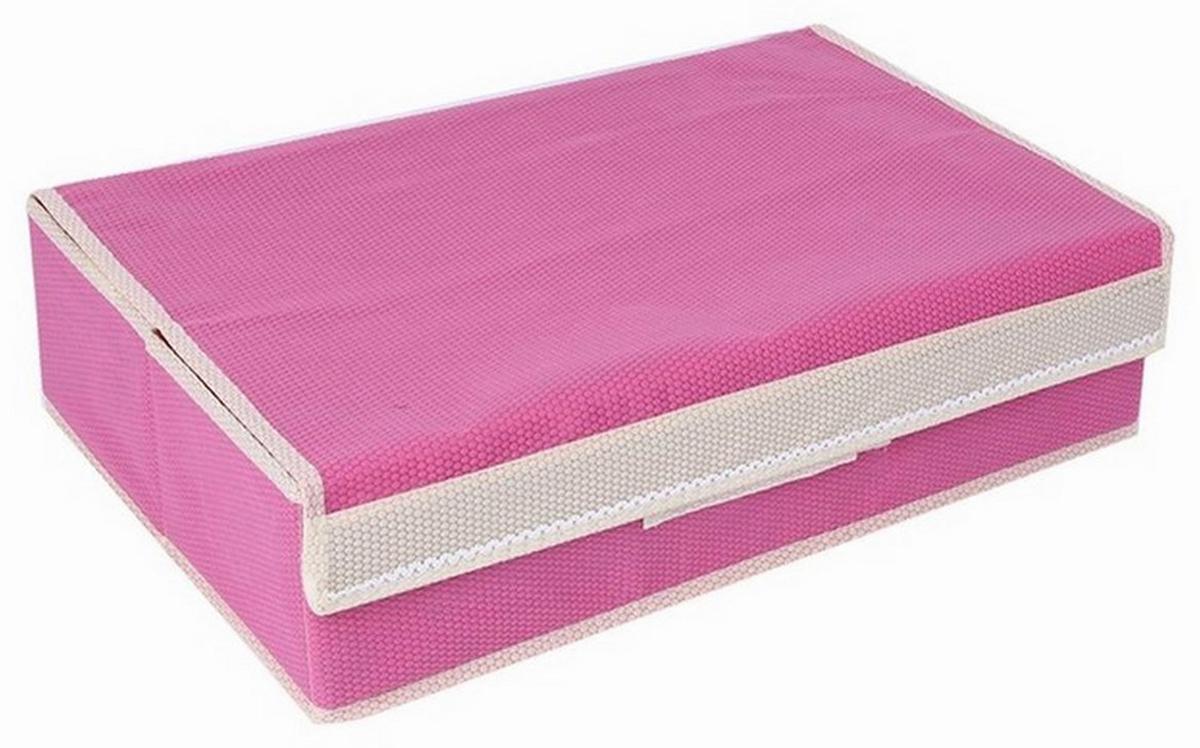 Органайзер для хранения белья Ruges Бельстайл, цвет: розовый, 52 х 32 х 13 см чехол для стирки бюстгальтеров ruges галант цвет белый 18 х 16 х 16 см