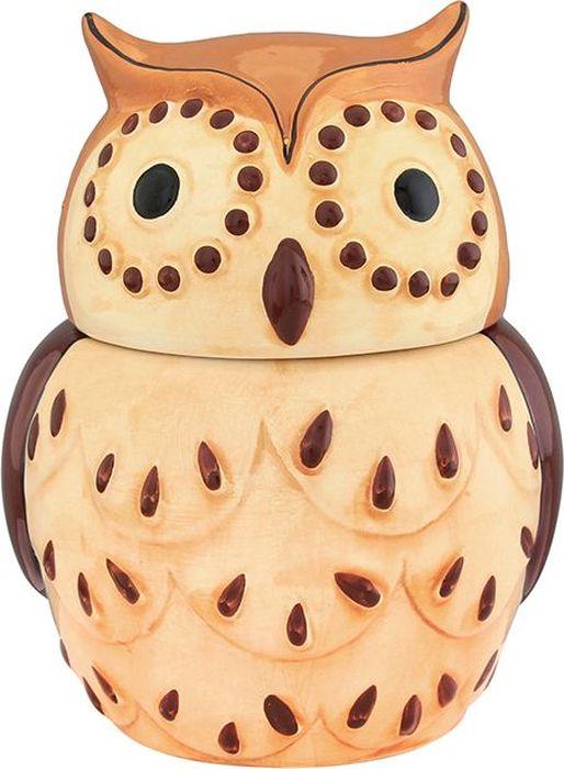 Горшочек для меда Elan Gallery Сова, цвет: коричневый, 610 мл горшочек для меда elan gallery пчелки на сотах 300 мл
