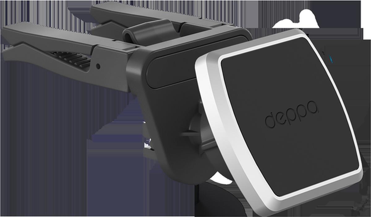 Deppa Mage Air, Black автомобильный держатель для смартфонов автомобильный держатель deppa mage air для смартфонов магнитный крепление на вентиляционную решетку