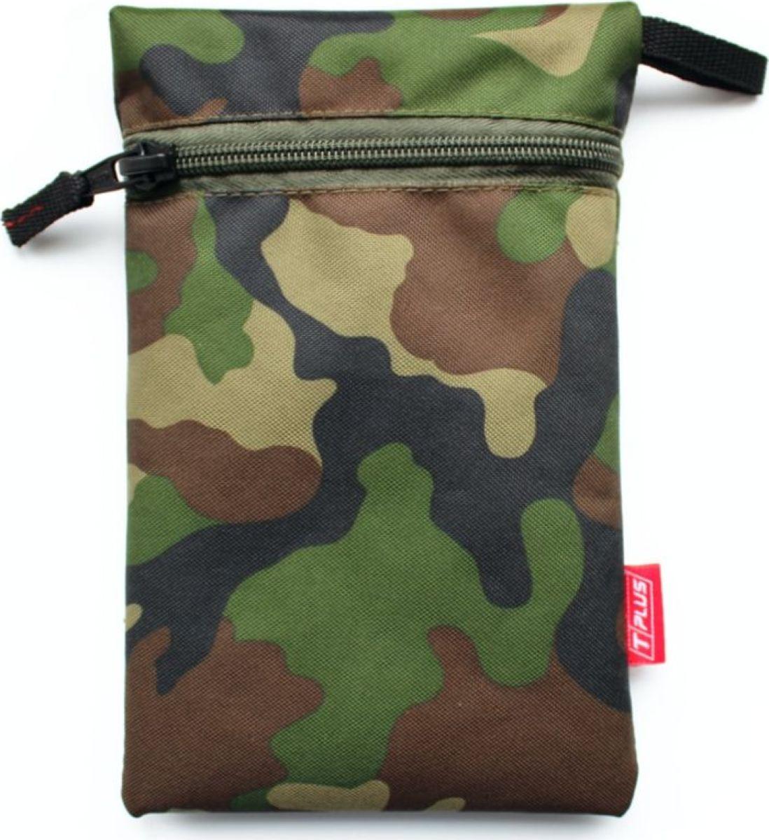 Мешок вещевой Tplus 600, цвет: нато, 13 x 20 см сумка рыбака tplus 600 цвет цифра 40 x 22 x 24 см