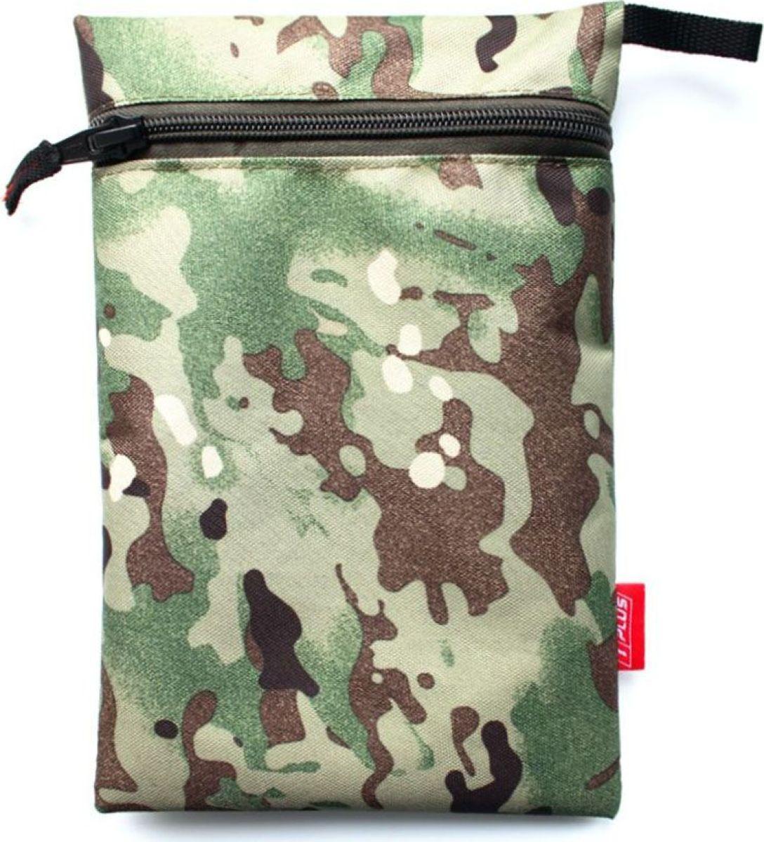 Мешок вещевой Tplus 600, 15 x 23 см, цвет: нато сумка рыбака tplus 600 цвет цифра 40 x 22 x 24 см