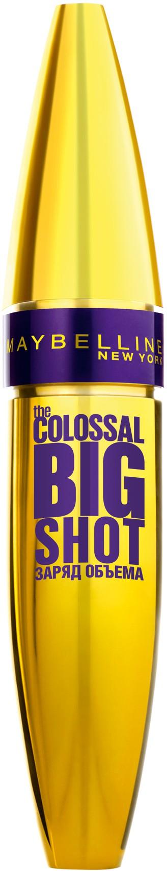 "Maybelline New York Тушь для ресниц ""The Colossal Big Shot"", черная, 9,5 мл"