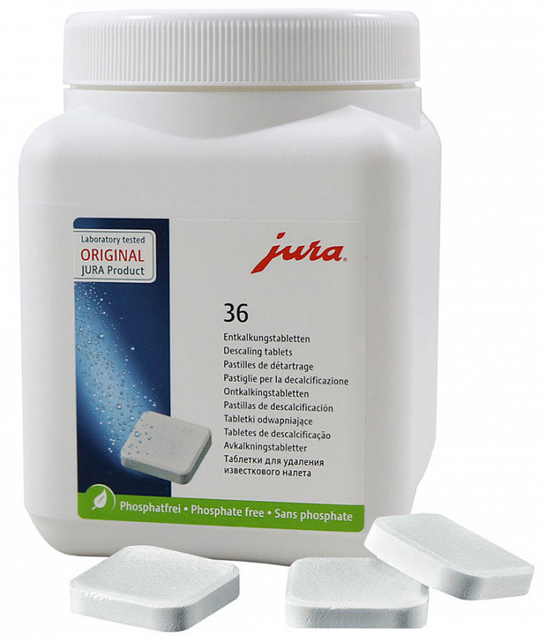 Jura 70751 таблетки для декальцинации, 36 шт kaffit com kft 01 средство для декальцинации 4 шт