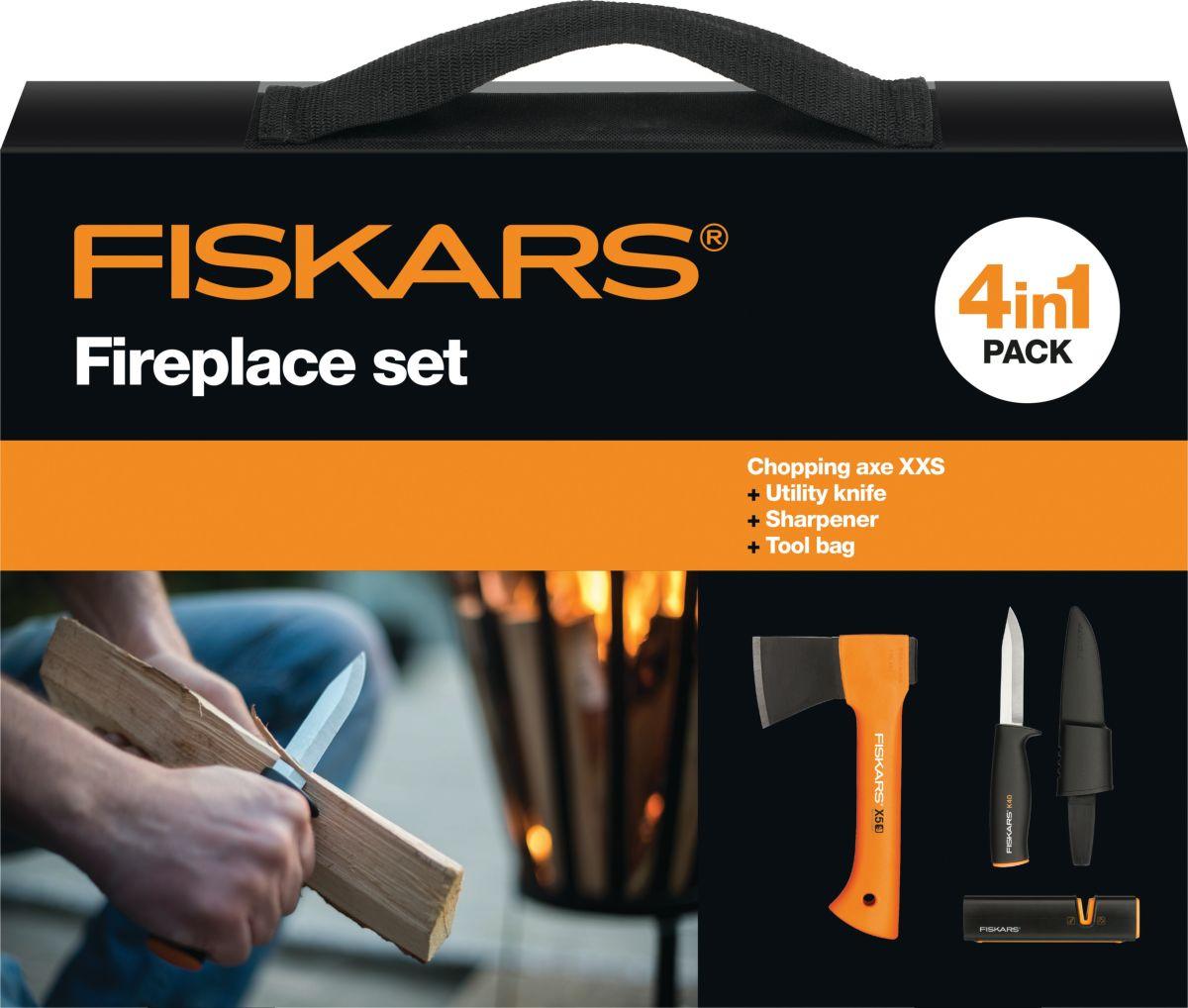 Набор Fiskars, в сумке, топор Х5 + нож общего назначения + точилка топор универсальный fiskars x5 xxs нож точилка 1025441