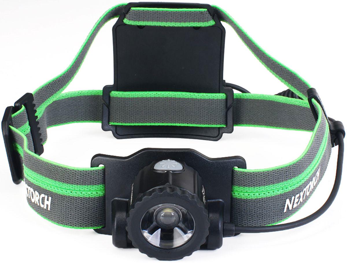 Фонарь налобный Nextorch My Star H-Series, цвет: черный, зеленый
