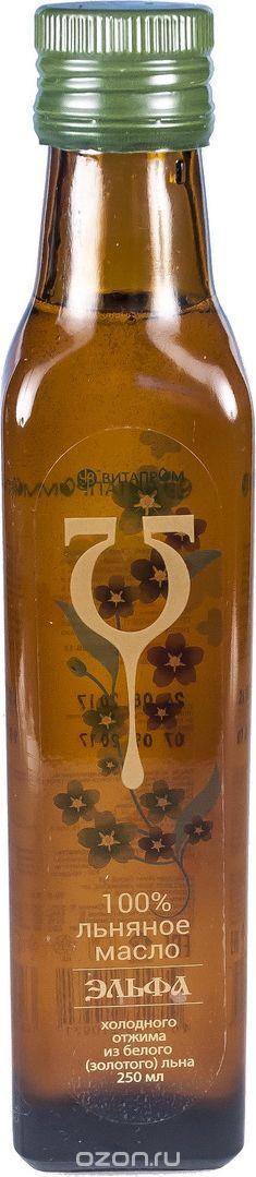 Эльфа Масло льняное, 250 мл витамины 3 6 9 омега