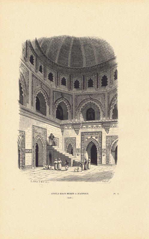 Индия, Джайпур, Атула-Хан-Масджид. Ксилография. Бельгия, Брюссель, 1843 год италийский амфитеатр близ города севилья испания ксилография бельгия брюссель 1843 год