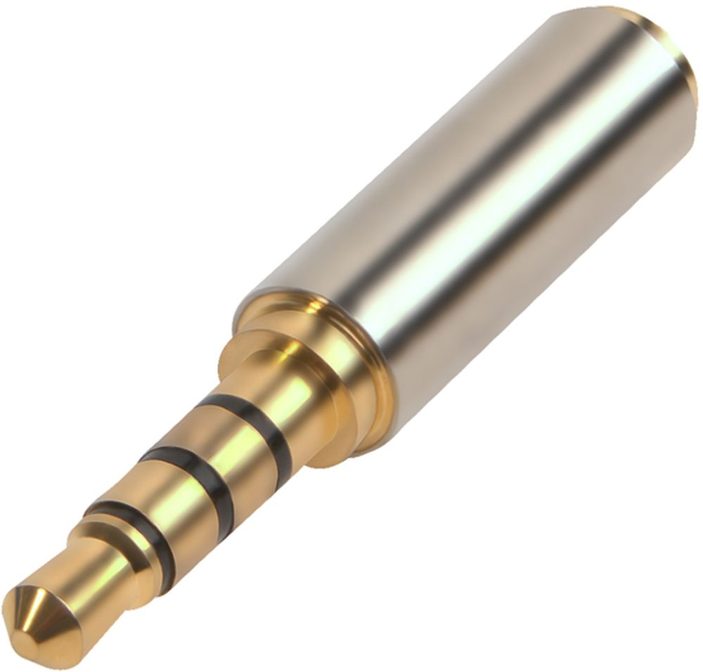 GCR GCR-AVA01, Silver переходник Jack 3,5 mm - Jack 2,5 mm