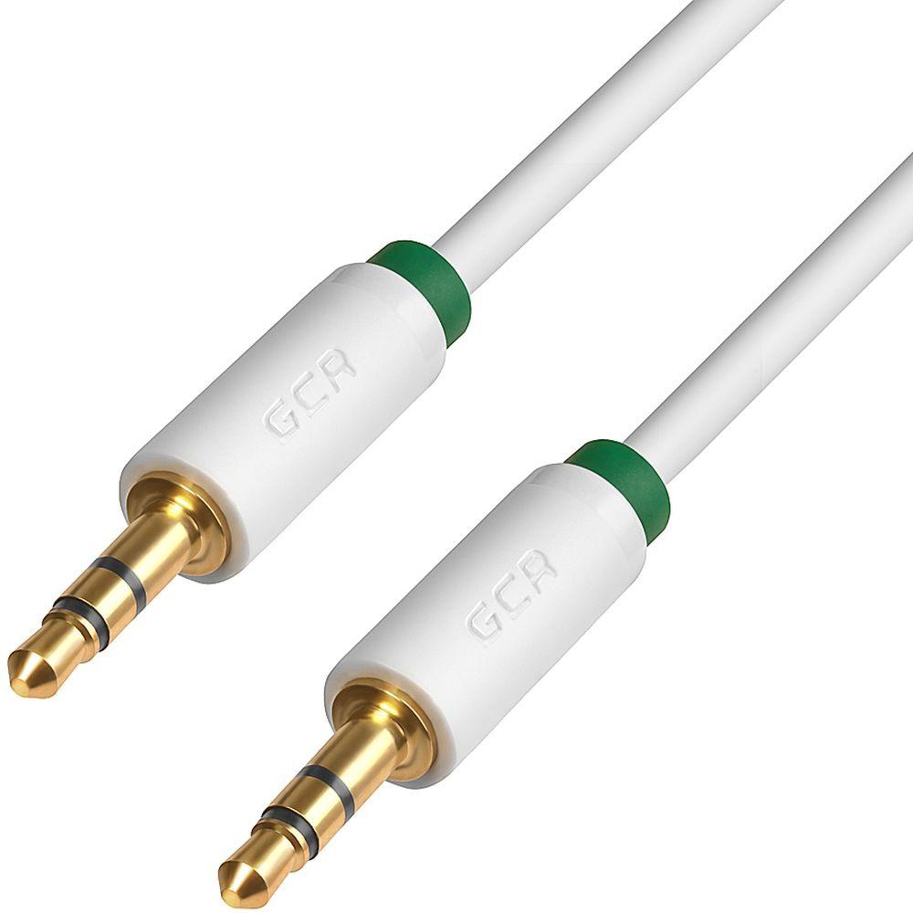 GCR GCR-AVC1662 Premium, White Green аудио-кабель Jack 3,5mm - (1 м)