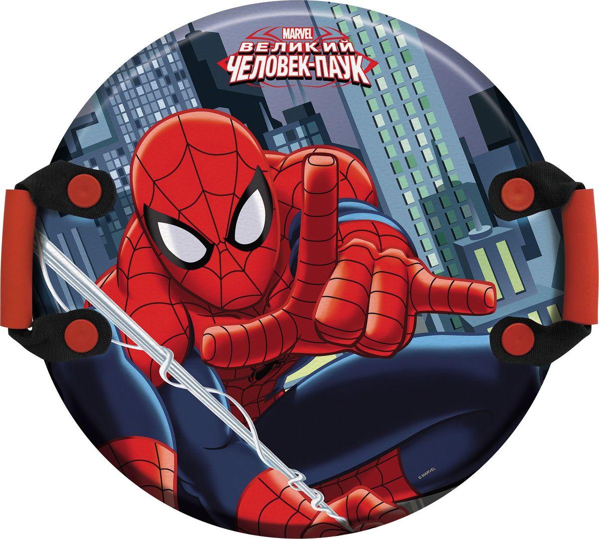 Ледянка 1TOY Marvel. Spider-Man, с ручками, 54 см ледянка marvel iron man 81 см с плотными ручками т58169