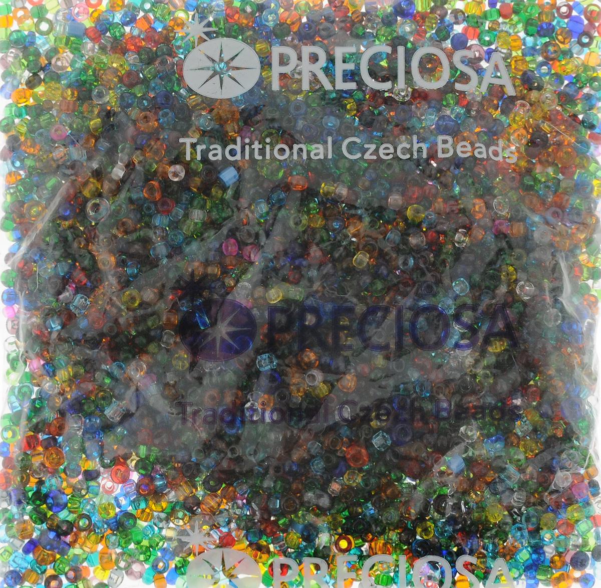 """Бисер Preciosa """"Ассорти"""", прозрачный, цвет: мультицвет (mix 17), 50 г"""